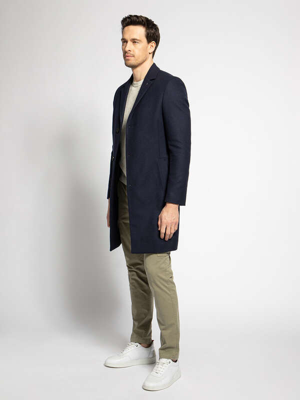 Short Coat with a Percentage of Cashmere