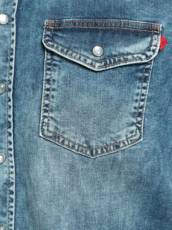 Slim-Fit Denim Shirt