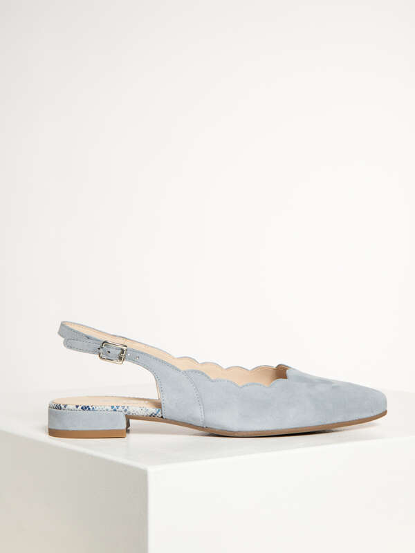 Sling-Back Court Shoes